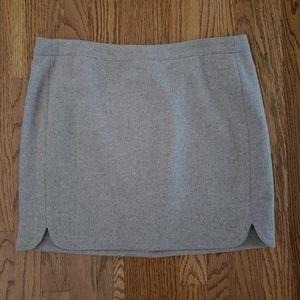 J Crew double notch wool mini skirt NWT